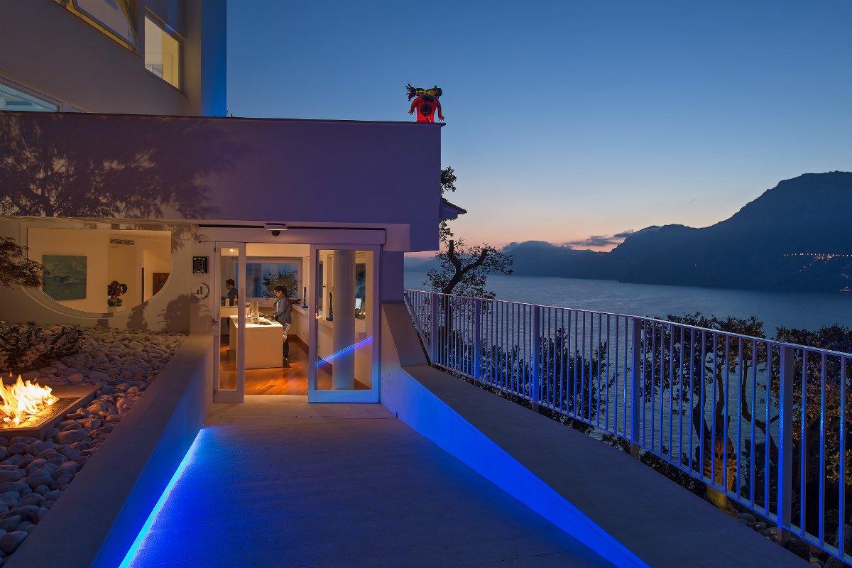 Casa Angelina entrance at night