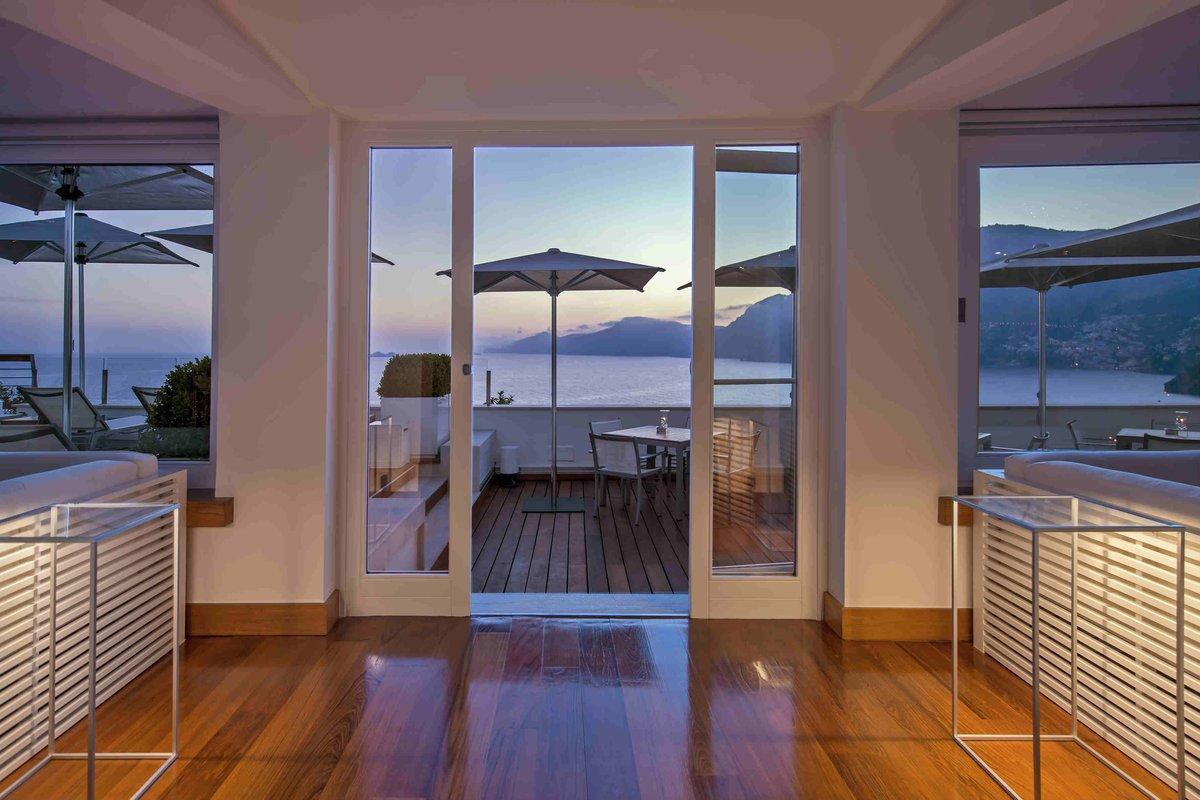 Casa Angelina lobby at dusk