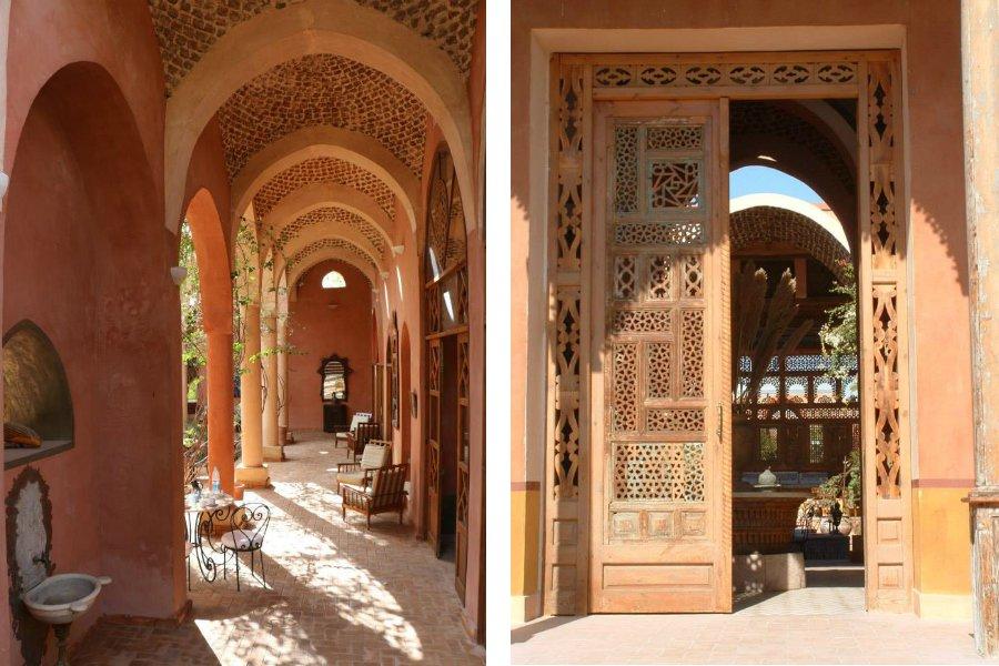 Exterior facade of Hotel al Moudira in Aswan