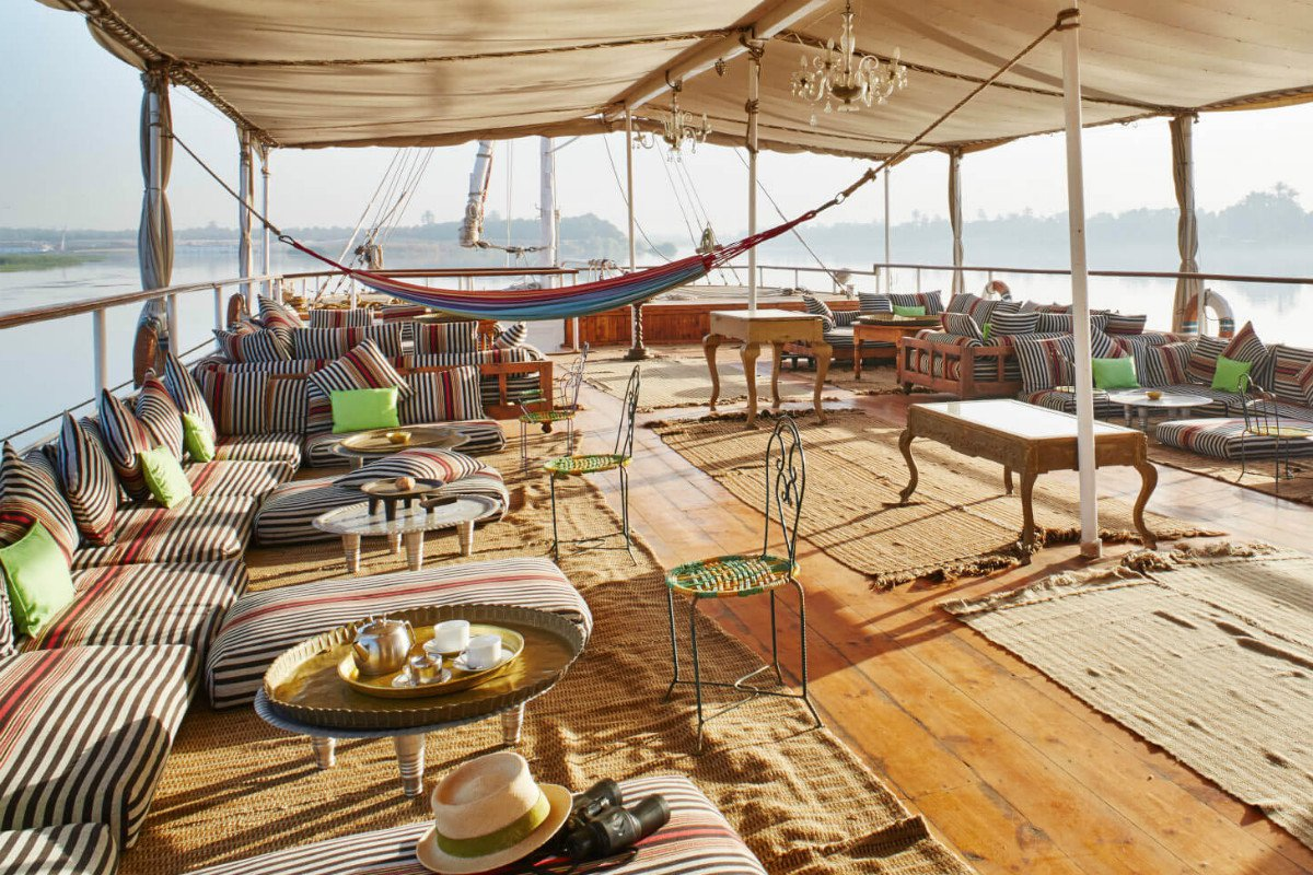 Nour el Nil boat furnished sundeck