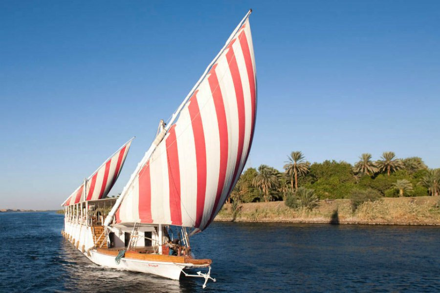 Nour el Nil boat sails down the Nile
