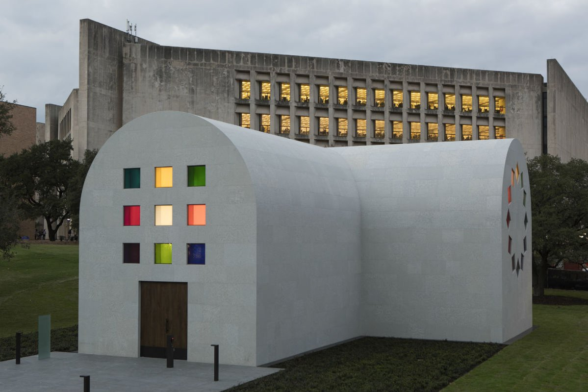Ellsworth Kelly Austin building on the grounds of the Blanton Museum of Art