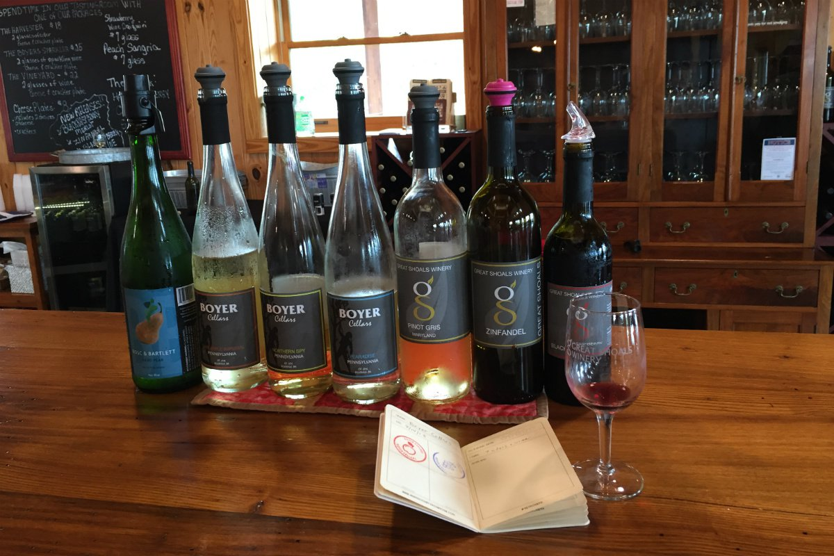 Wine tasting at Boyer Cellars