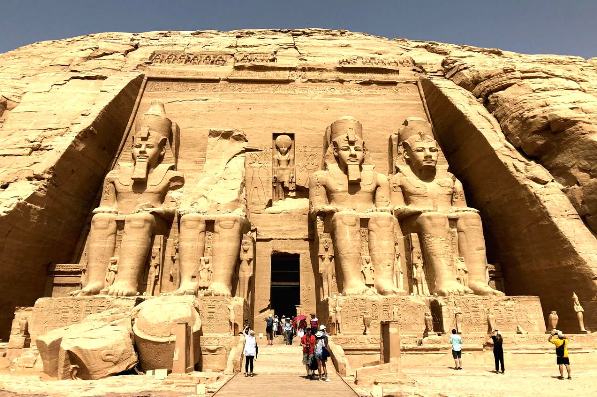 The Great Temple at Abu Simbel.
