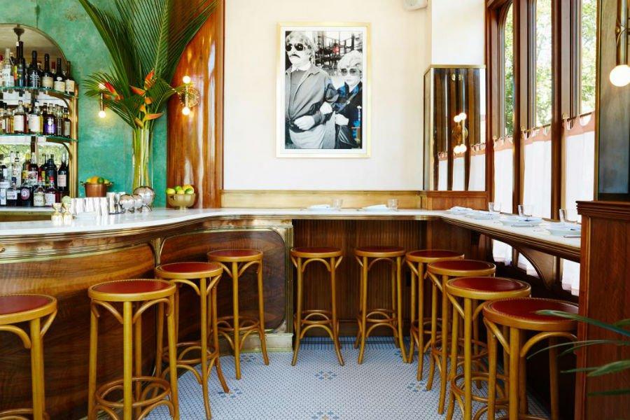 Bar at Sauvage, Brooklyn.