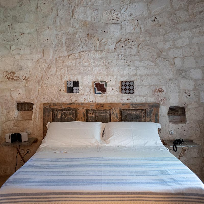 Guest room at Masseria Ceravolo.