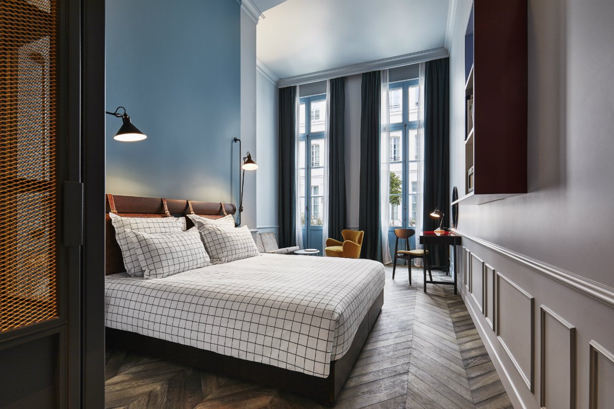 Hoxton Paris bedroom interior
