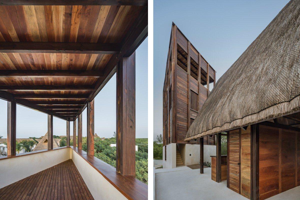 Punta Caliza cedar architecture design