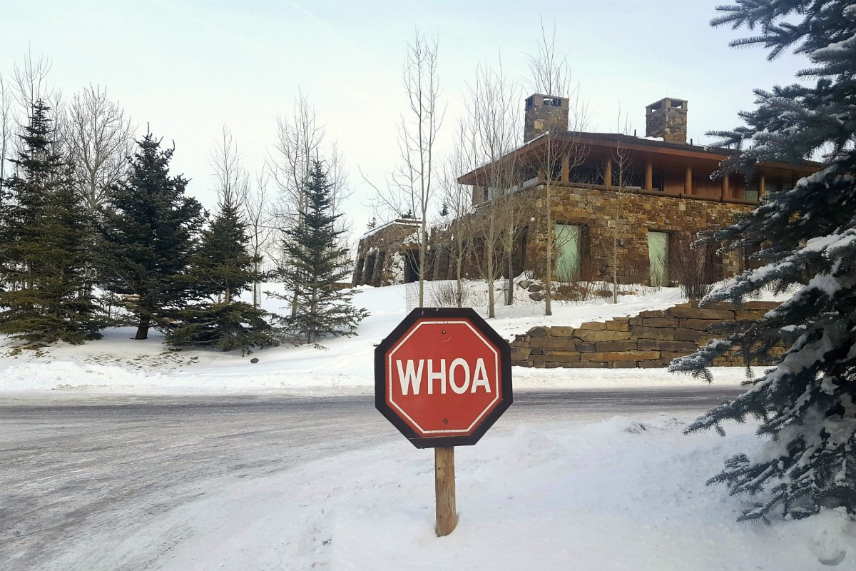 Woah stop sign
