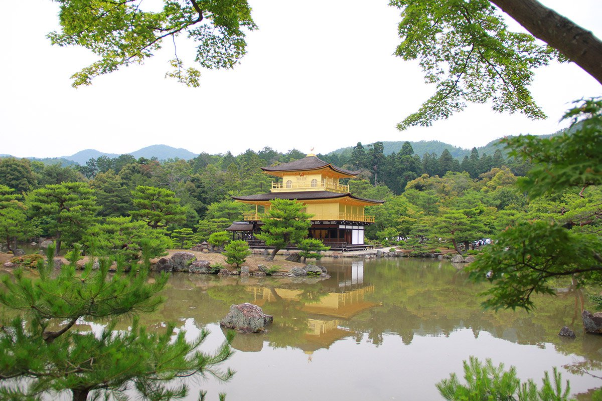 Golden Pavilion in Kyoto, Japan.