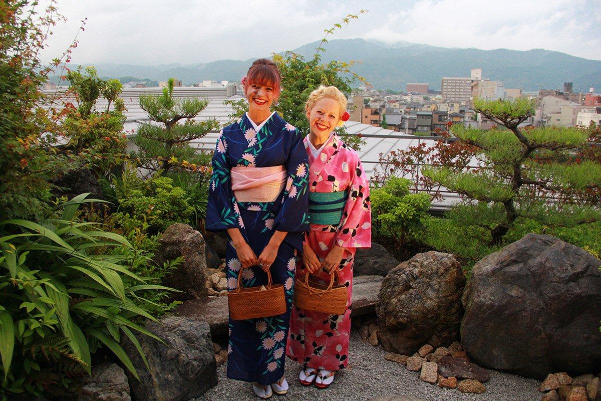 Kimono experience at Ritz-Carlton Kyoto.