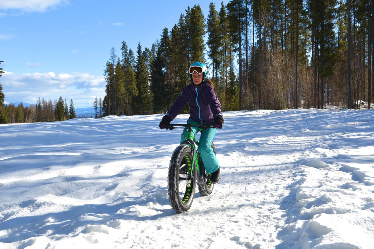 Fat biking at Kimberley Mountain Resort, British Columbia