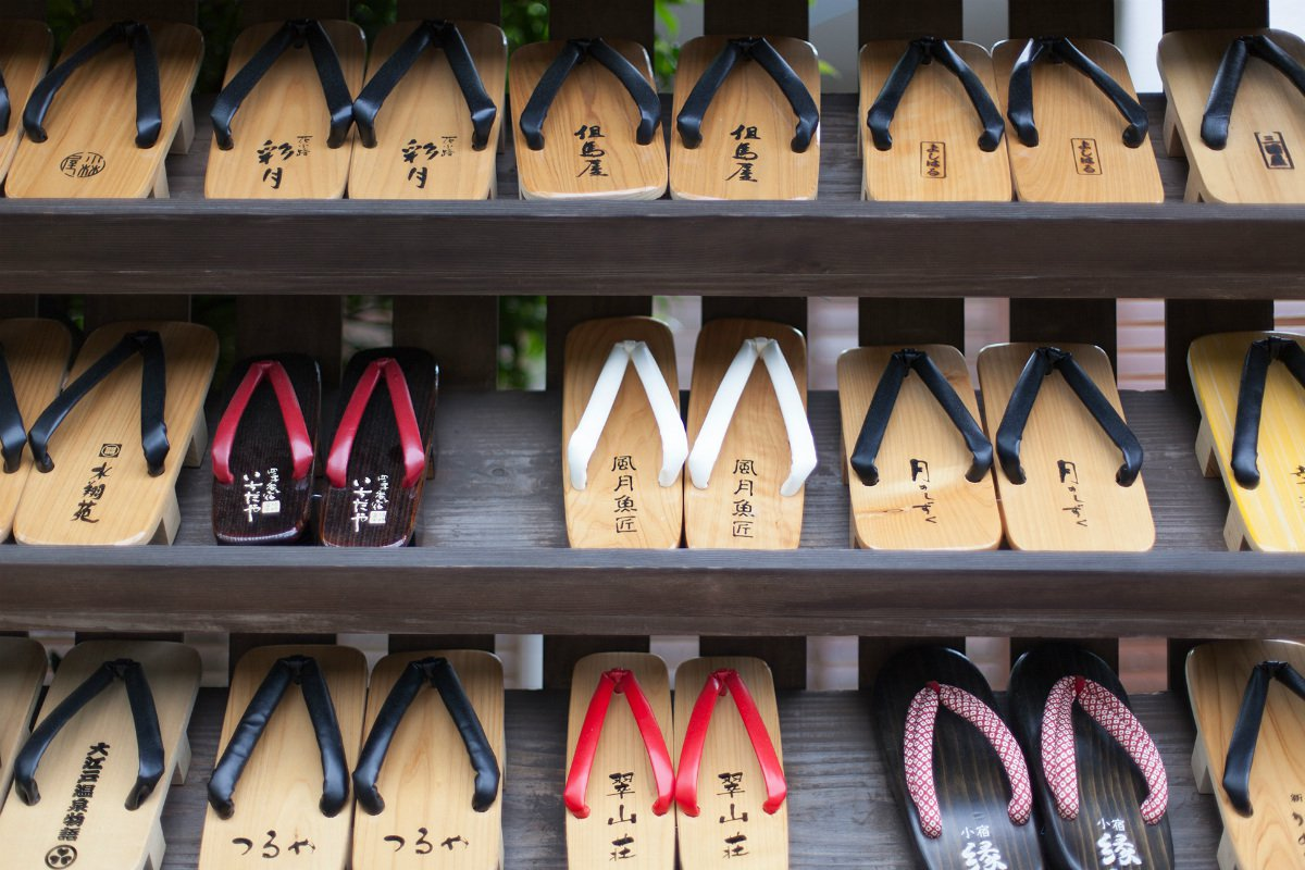 Geta sandals selection