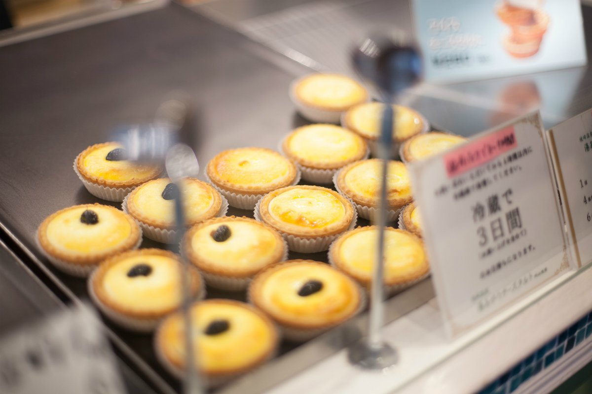 Cheese tarts local Kinosaki cuisine