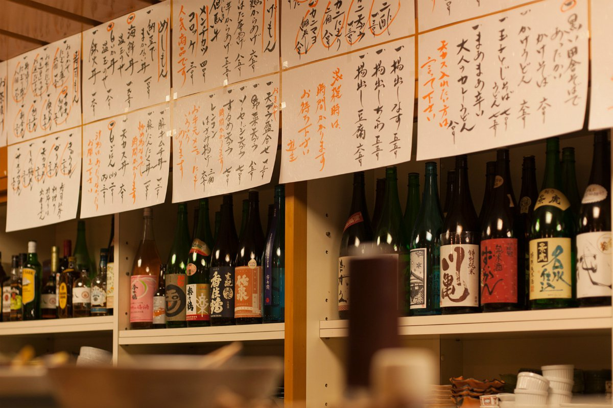Sake at Tomiya restaurant