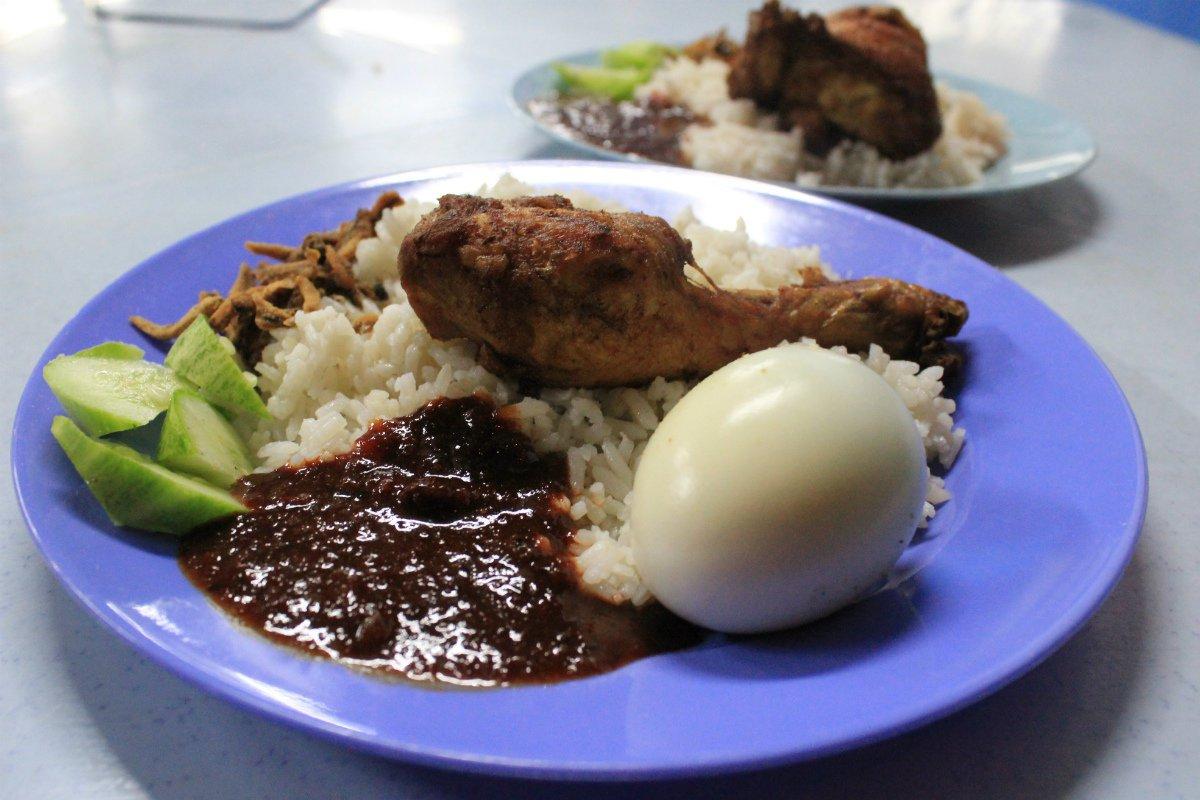 Nasi Lemak from Tanglin in Kuala Lumpur Malaysia