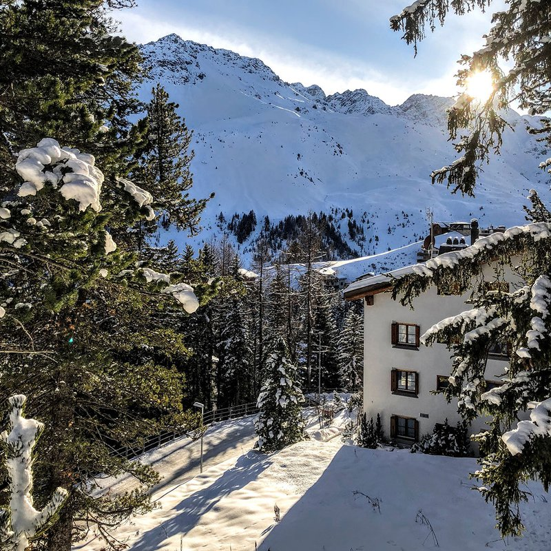 Snow in Switzerland.