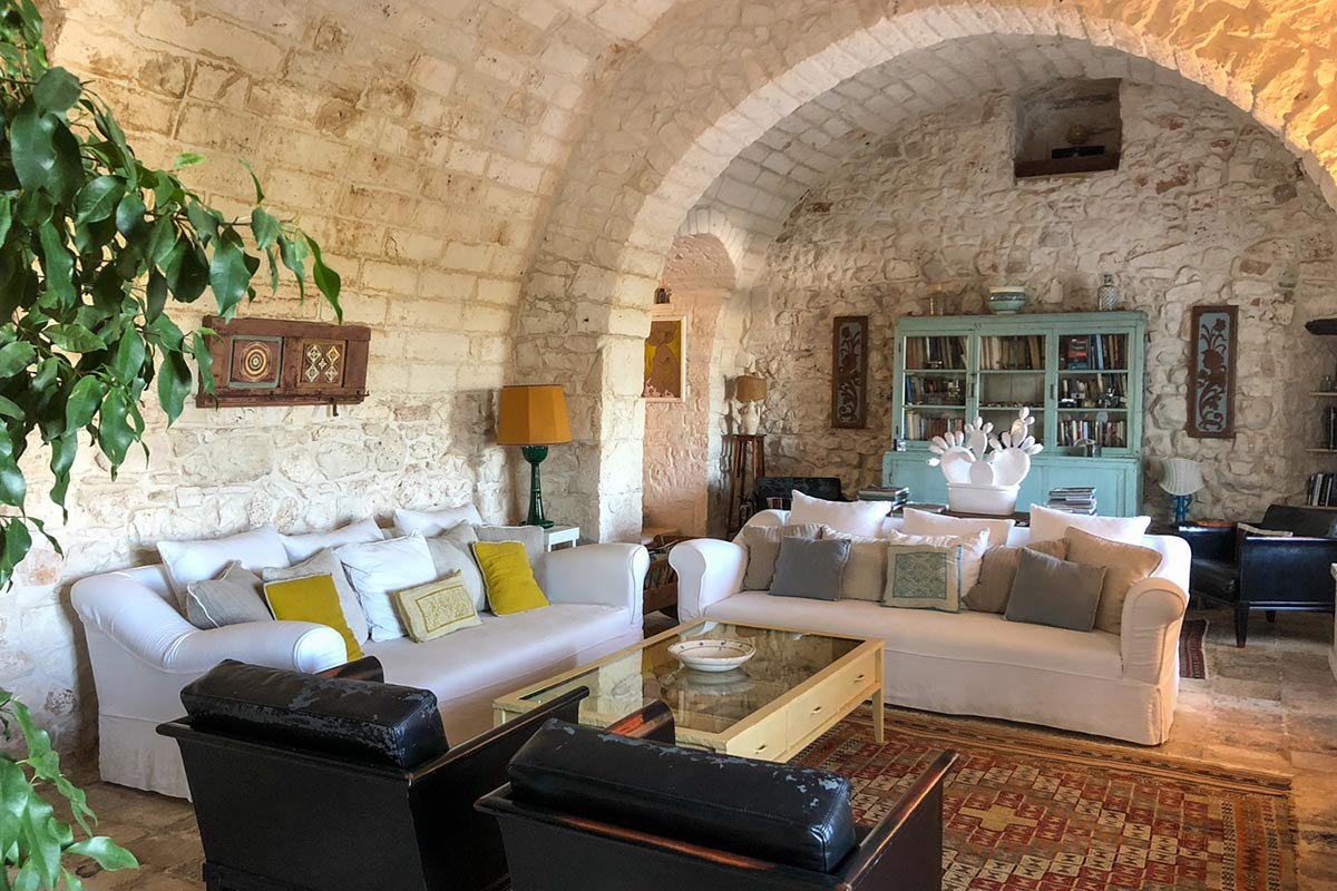 Living room at Masseria Ceravolo.