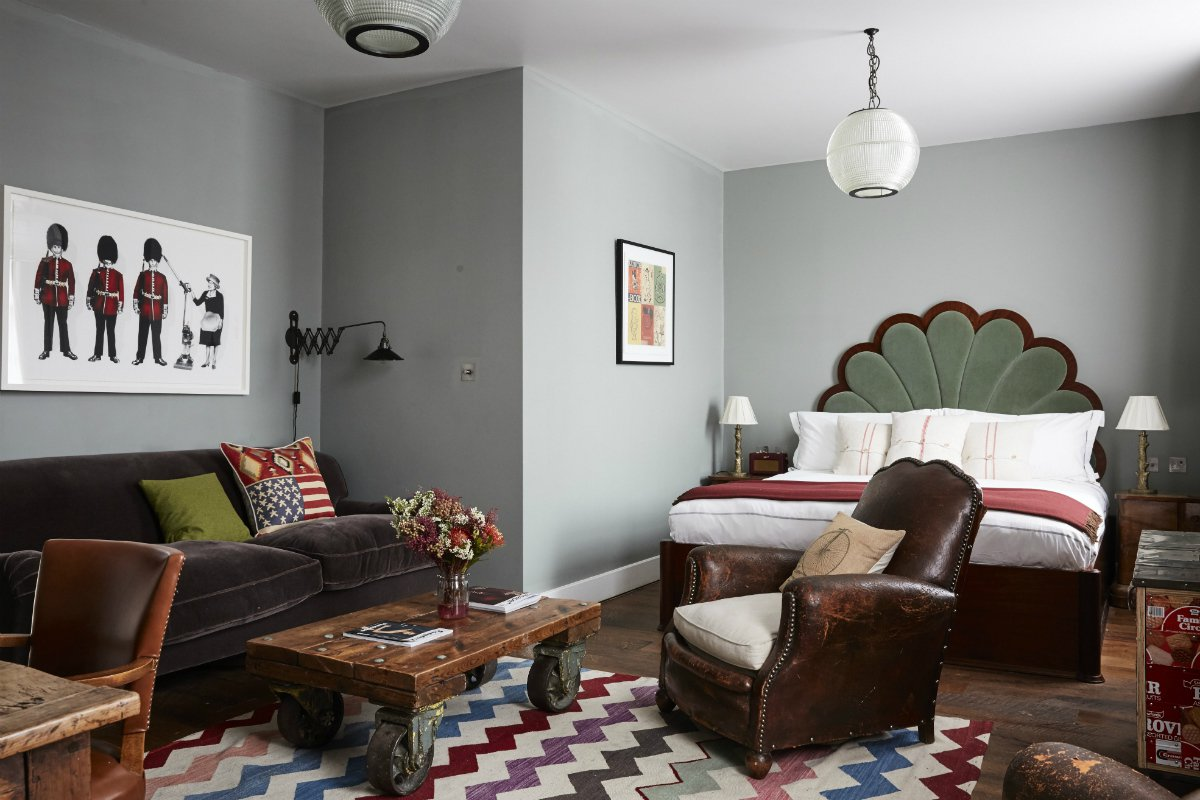 Interior of the club suite at Artist Residence London