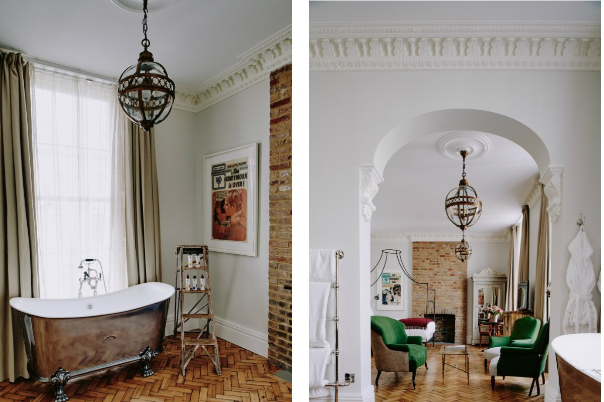 Inside the grand suite at Artist Residence London