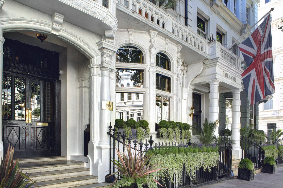 The Gore London exterior townhouse entrance