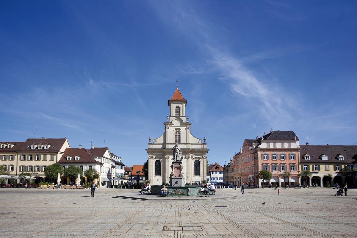 Ludwigsburg market square.