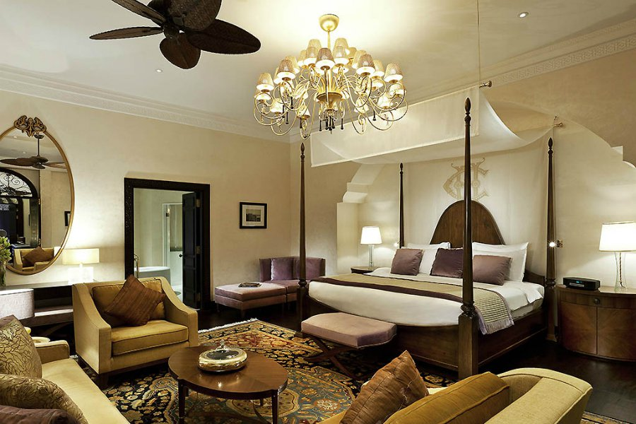 Guest room suite at Sofitel Legend Old Cataract in Aswan