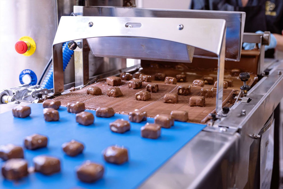 Production at Margaret River Chocolate Company.