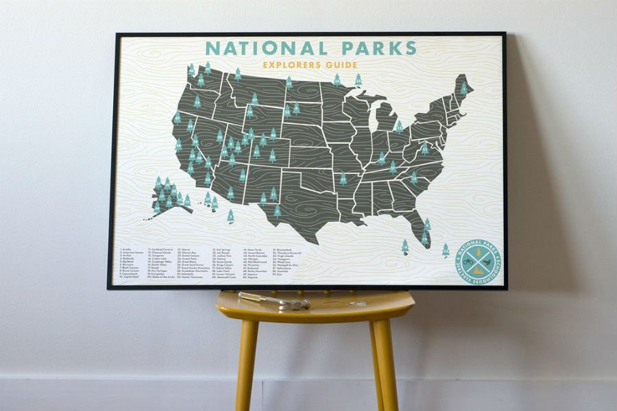 Schoolhouse Electric National Parks Map