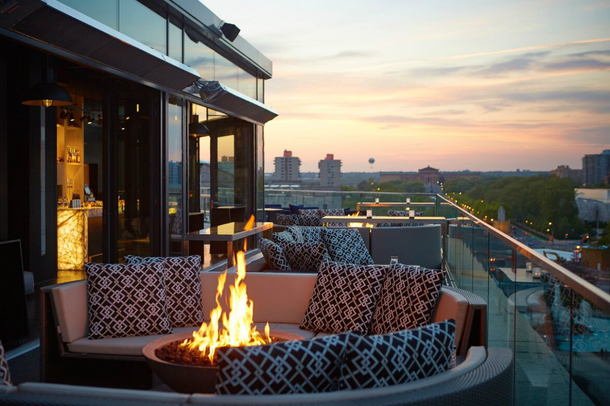 Logan Hotel rooftop bar