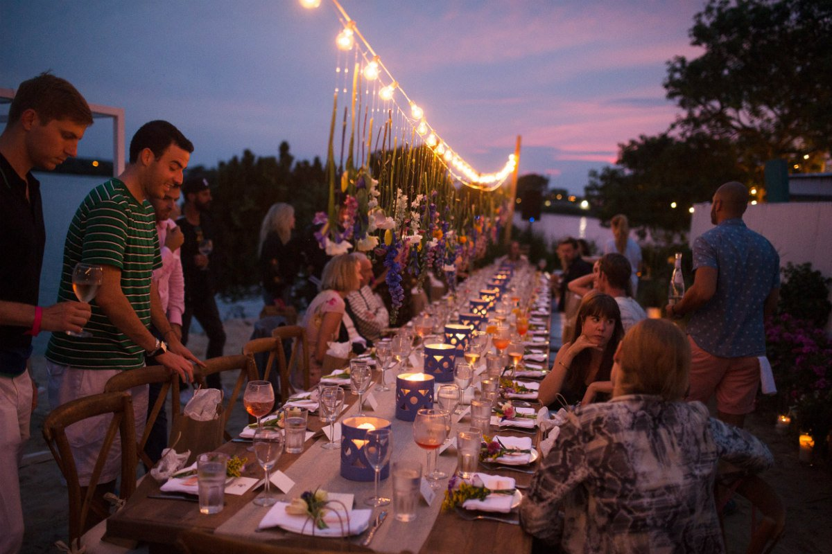 A Rosé Project hosted dinner.