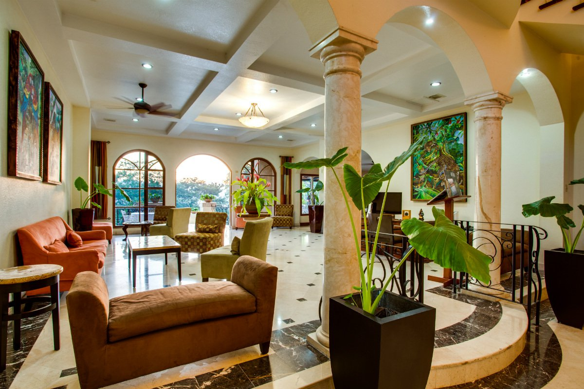 San Ignacio Resort Hotel reception