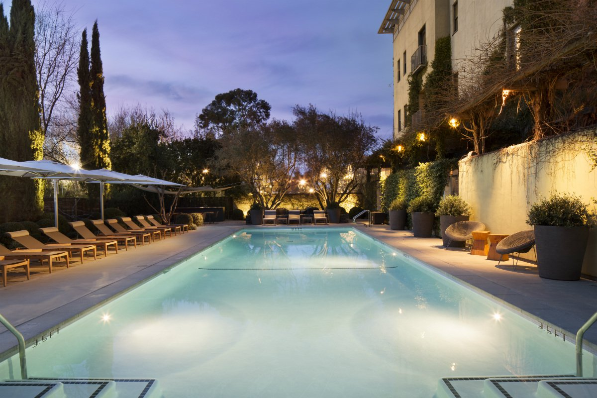 The outdoor pool at Hotel Healdsburg
