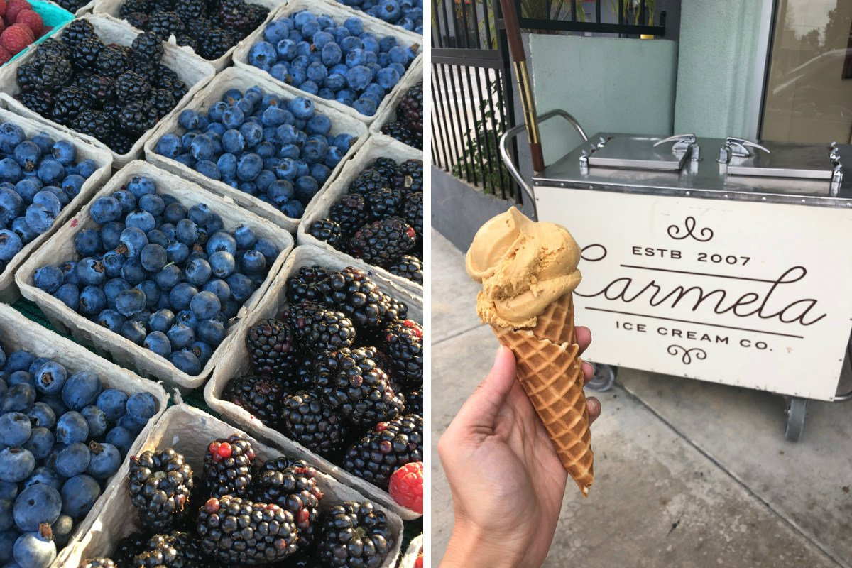 South Pasadena Farmers Market (left) Carmela Ice Cream (right)