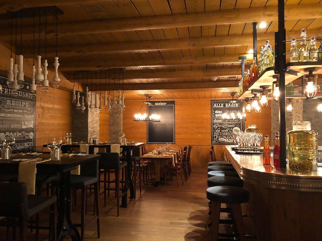 The restaurant at the Tschuggen Grand Hotel