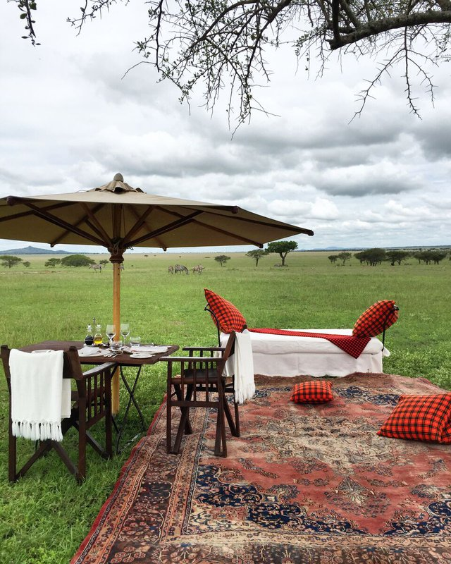 Lunch at Singita's Sabora Tented Camp, Grumeti, Tanzania.