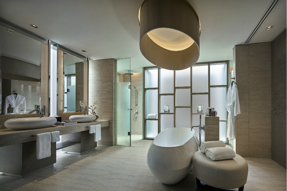 Terrace suite bathroom at The Ritz-Carlton Koh Samui