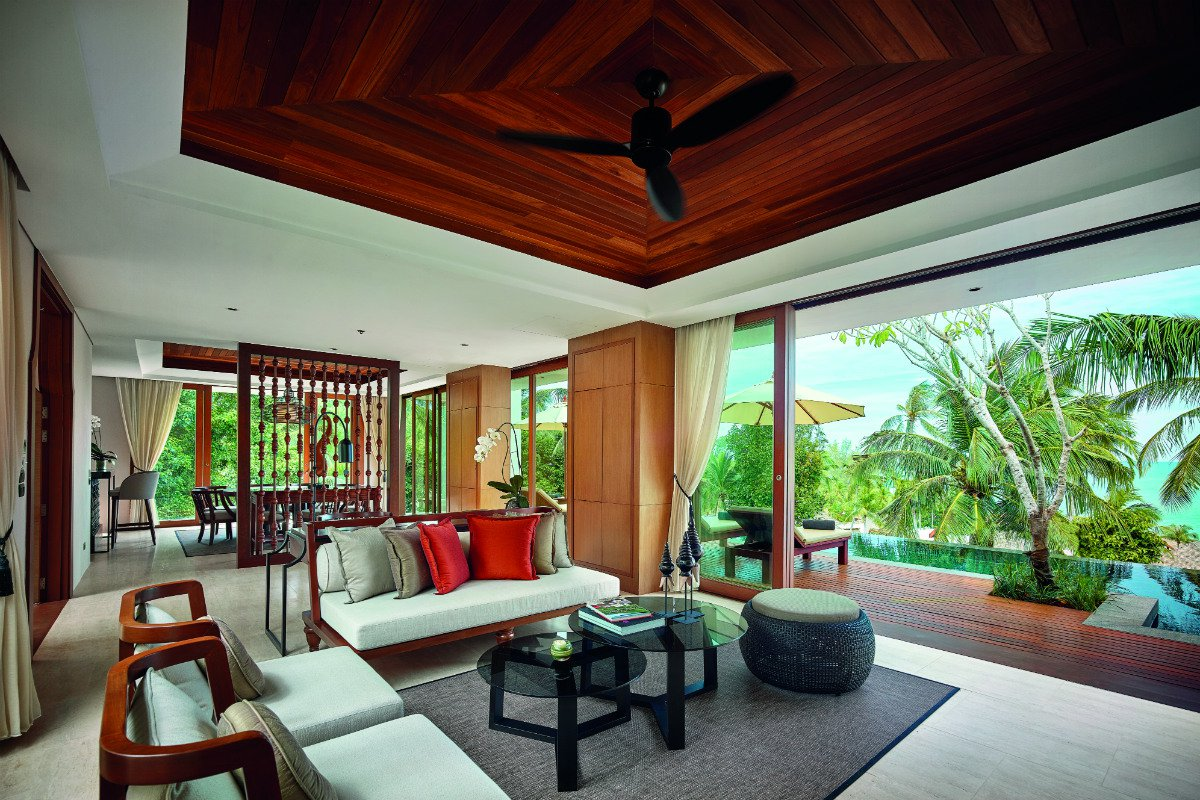 Villa Kasara living room at The Ritz-Carlton Koh Samui