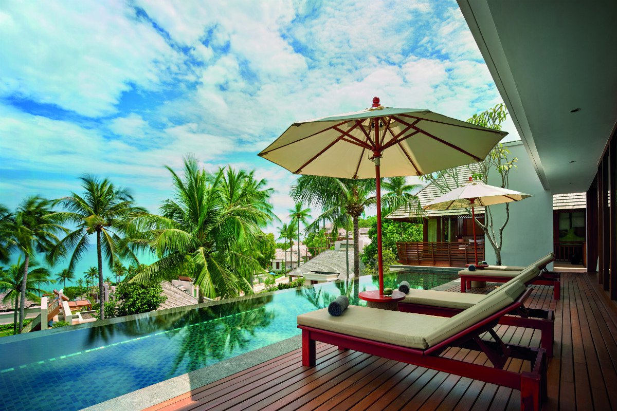 Private plunge pool at The Ritz-Carlton Koh Samui
