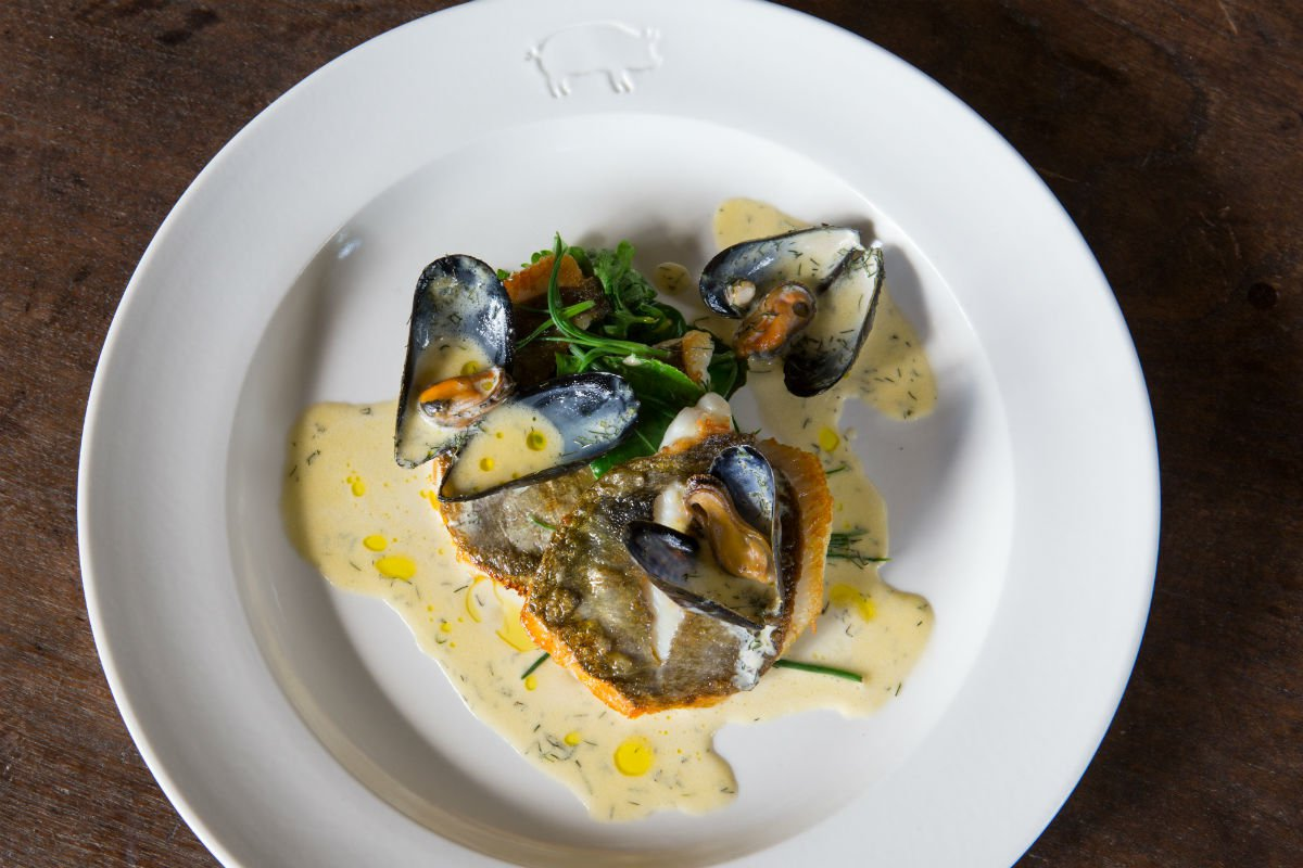 Mussels at The Pig at Combe Hotel