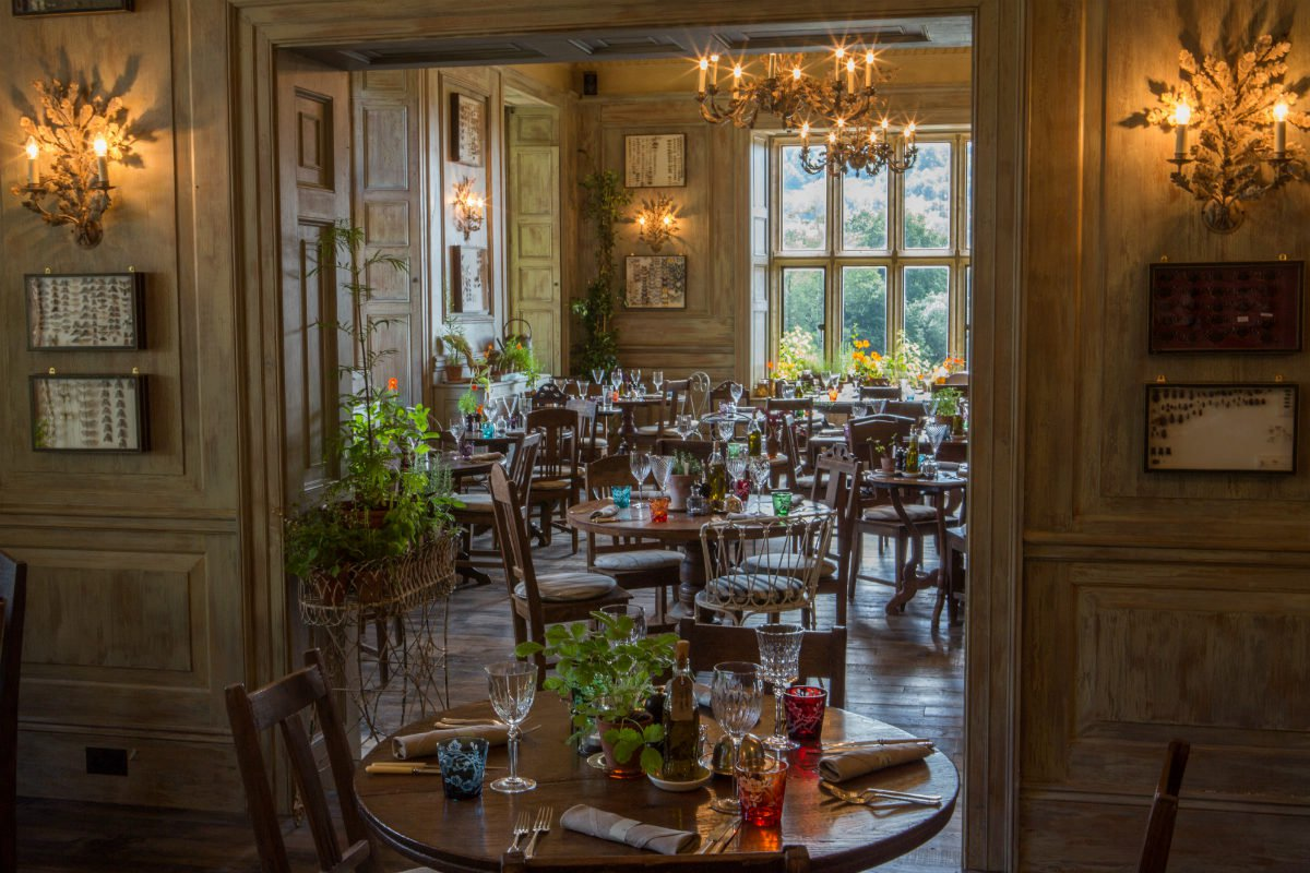 The main restaurant at The Pig at Combe Hotel