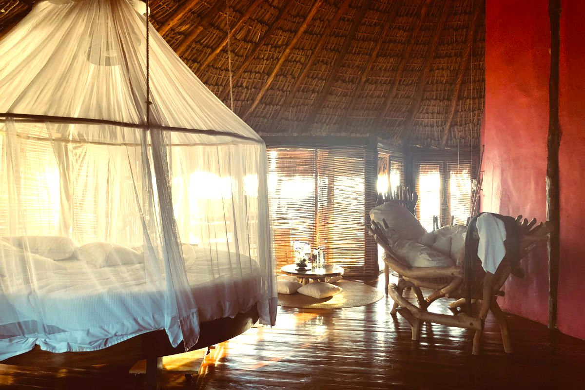 Room at Azulik Hotel and Maya Spa, Tulum, Mexico.