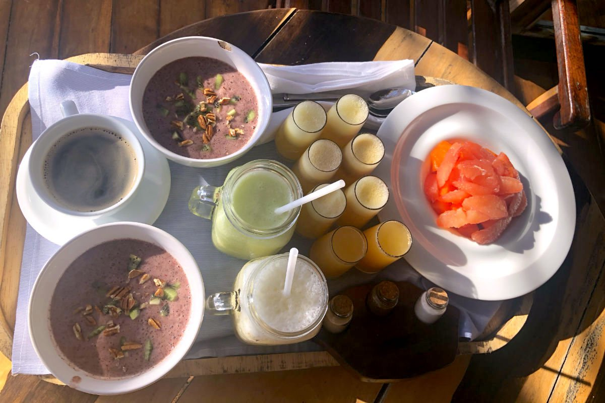 Breakfast At Azulik Hotel and Maya Spa.