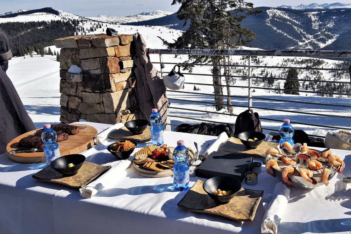 Four Seasons mountaintop lunch