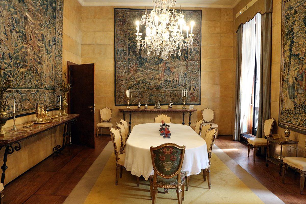 Villa Necchi Campiglio dining room.
