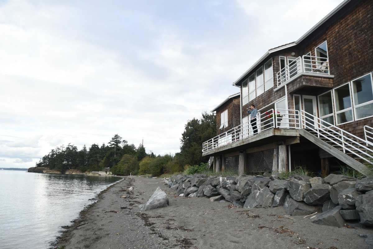 Exterior on Beach at Willows Inn