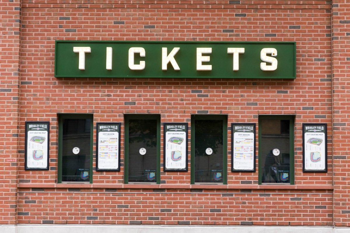 Wrigley Field ticket counter