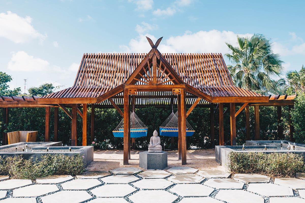 Yoga terrace.