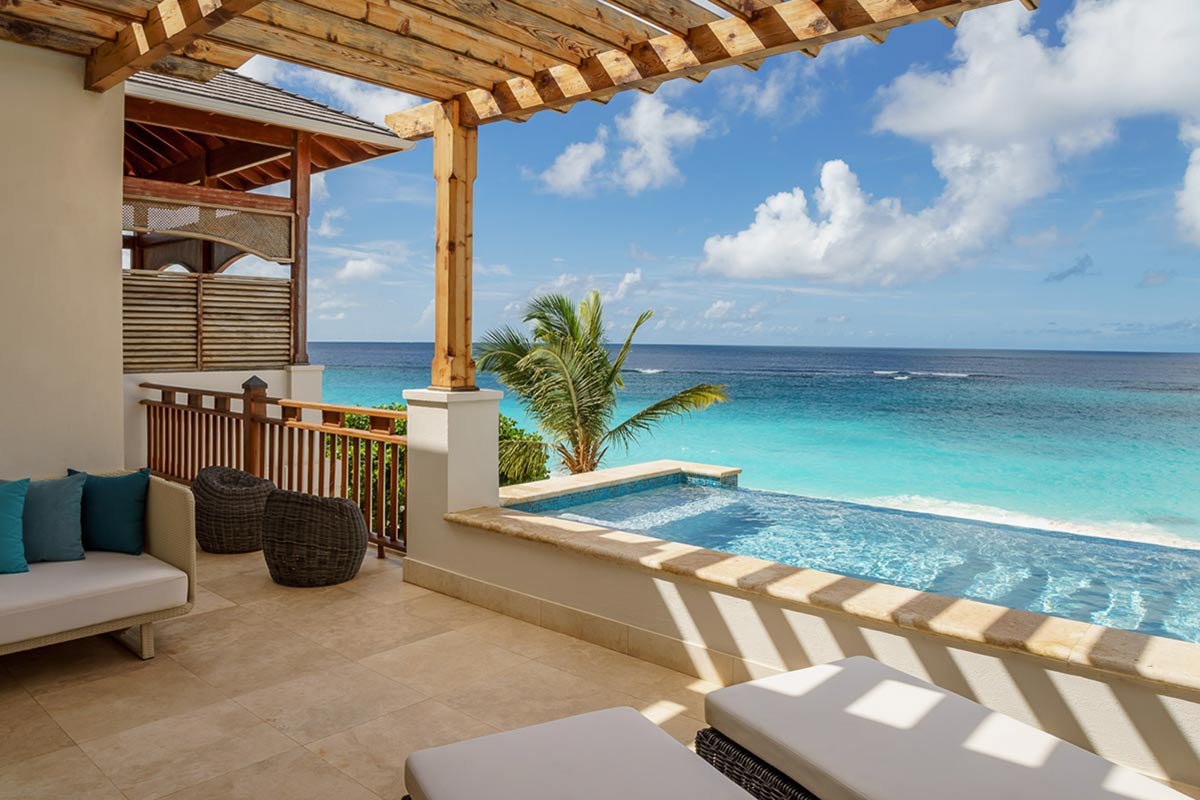 Private balcony at Zemi Beach House.