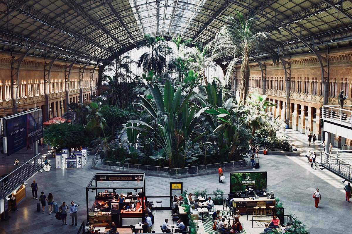 Atocha Train Station.